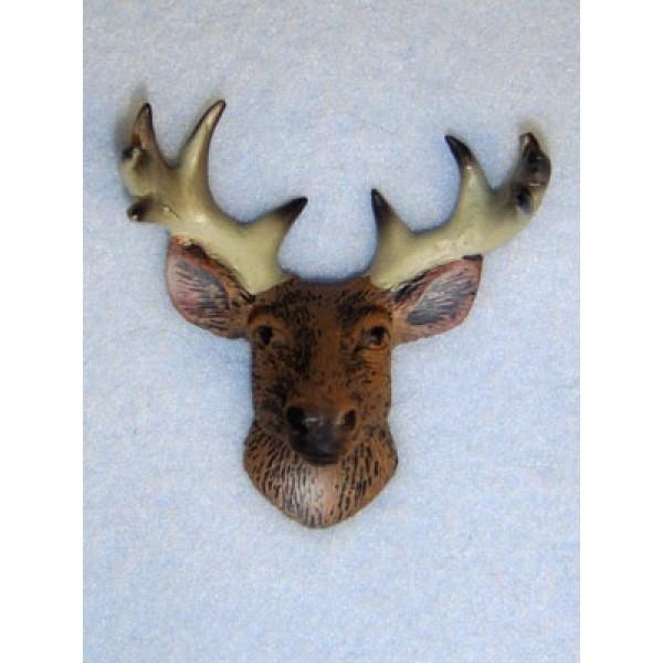 Miniature - Deer Head w_Antlers