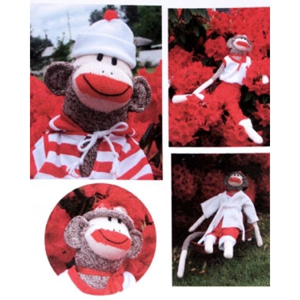 Monkey Socks Clothes Pattern