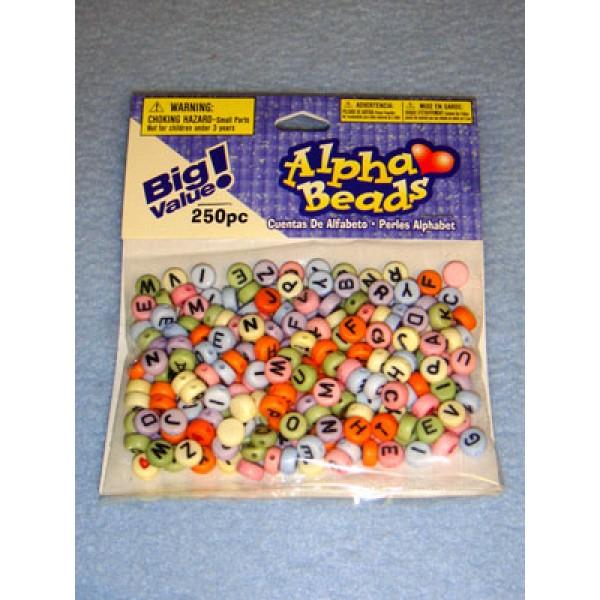 Multi Alpha Beads 7mm Round 250 pcs