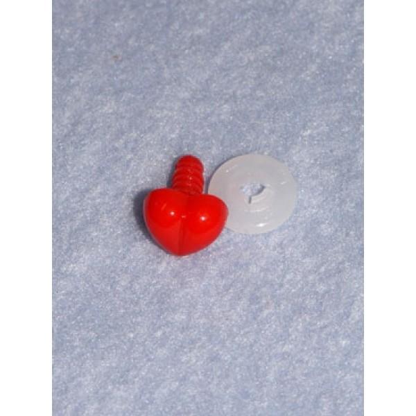 Nose - Heart - 13mm Red Pkg_100