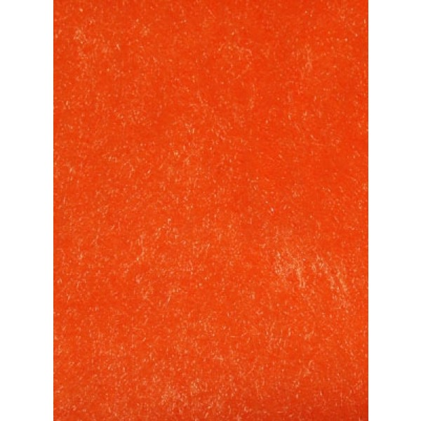 Orange Short Pile Fur Fabric 1 Yd