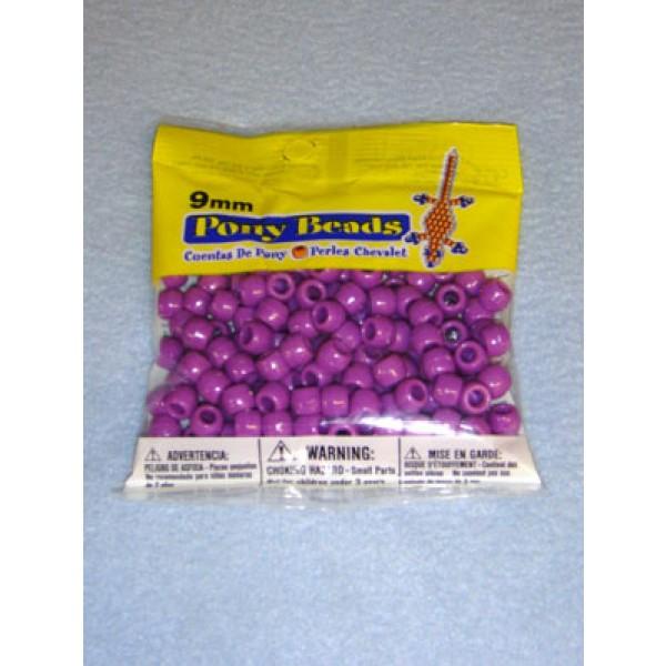 Purple Opaque Pony Beads 9mm 150 pcs