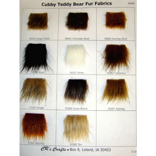 Samples - Cubby Bear Fur Fabric