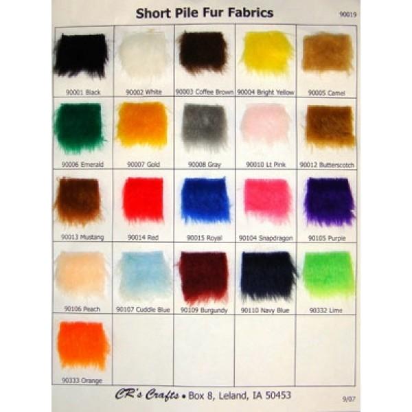 Samples - Short Pile Fur Fabric