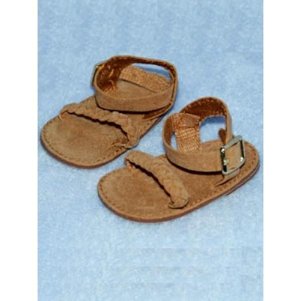 "Sandal - Braided - 2 5_8"" Camel Suede"
