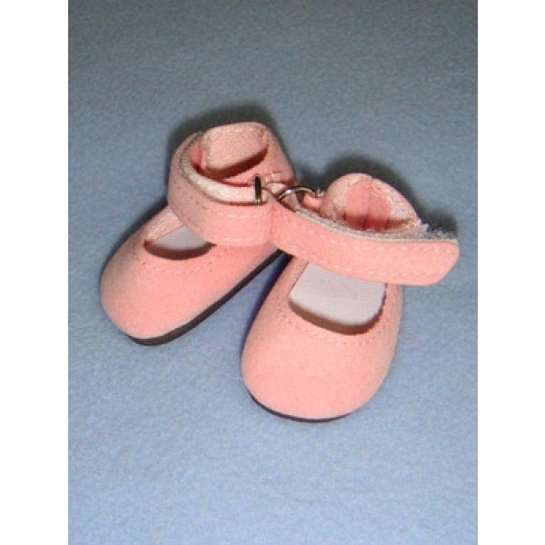 """Shoe - Ankle Strap - 2 1_8"""" Pink Suede"""