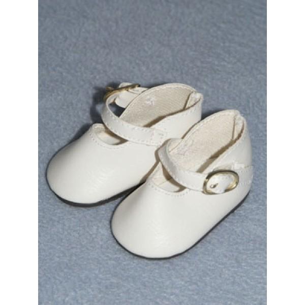 "Shoe - Buckle - 2 1_4"" White"