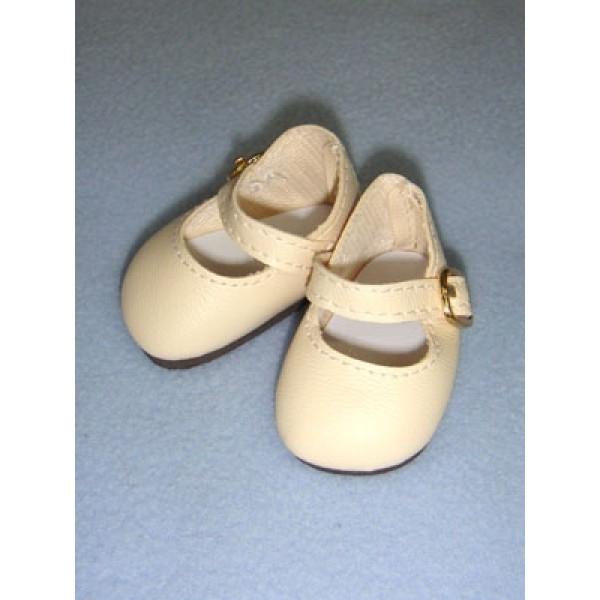 "Shoe - Elegant Ankle Strap - 2 1_8"" Light Cream"