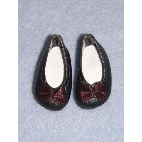 """Shoe - Fancy Slip-On - 1 1_2"""" Black"""