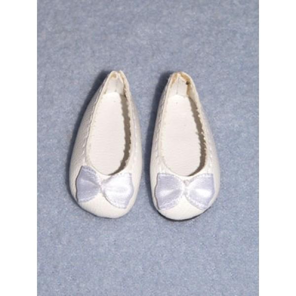 """Shoe - Fancy Slip-On - 1 1_2"""" White"""