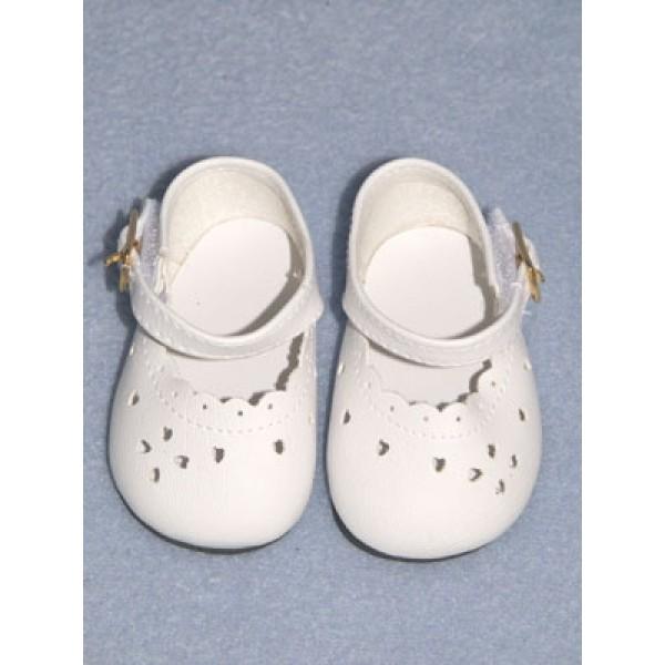 "Shoe - Heart-Cut Baby - 2 7_8"" White"