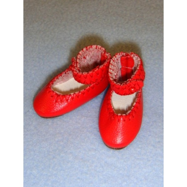 """Shoe - Leather Ankle Strap - 1 1_2"""" Red"""