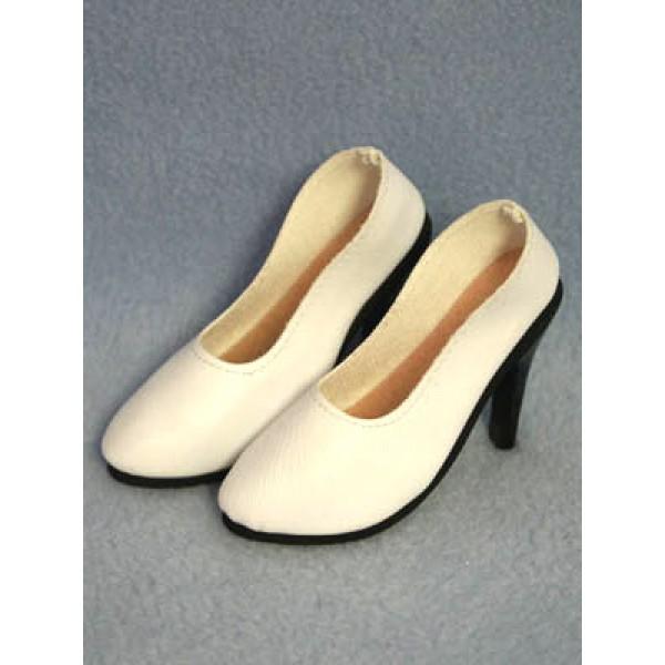 """Shoe - Luvable High Heel - 3 5_8"""" White"""