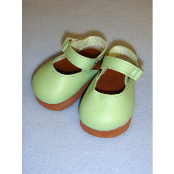 "Shoe - Mary Jane Clogs - 3"" Light Green"