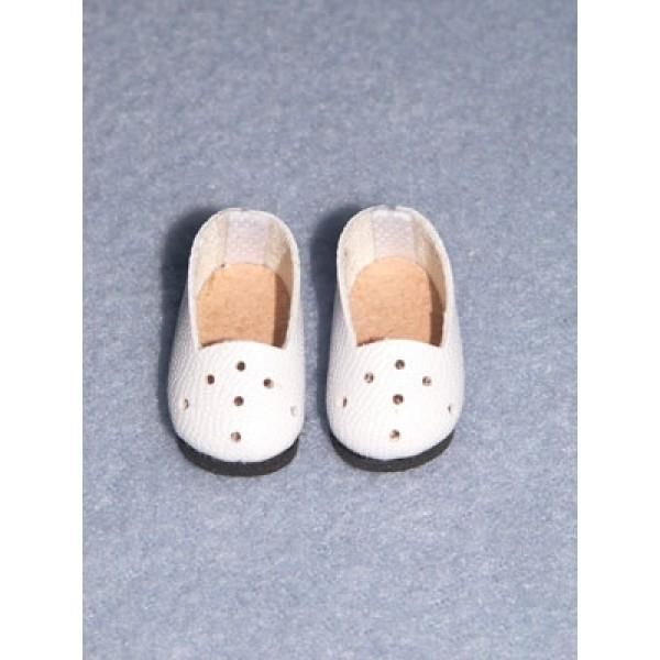 """Shoe - Plain Loafer - 1"""" White"""