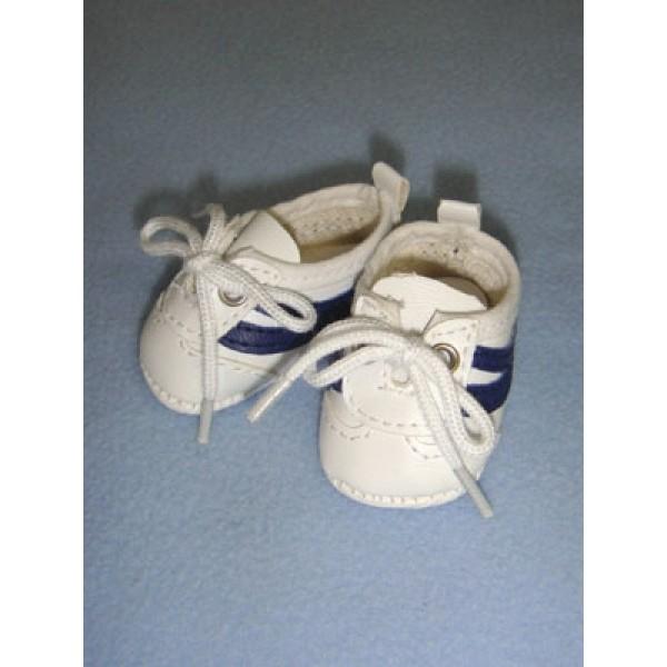 "Shoe - Tennis - 2 1_8"" White_Navy Blue"