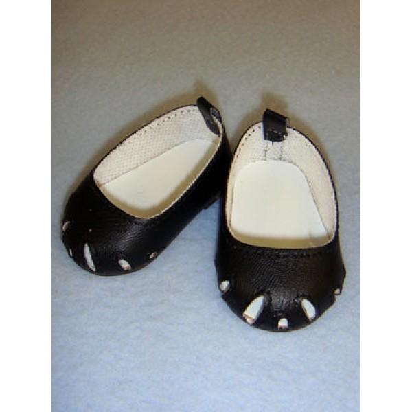 """Shoe - Toe-Cut Flats - 2 3_4"""" Black"""
