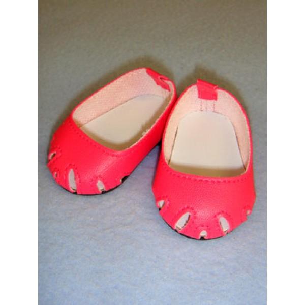 "Shoe - Toe-Cut Flats - 2 3_4"" Dark Pink"