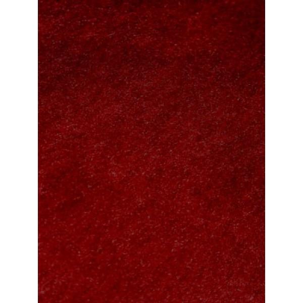 Short Pile Fur - Burgundy