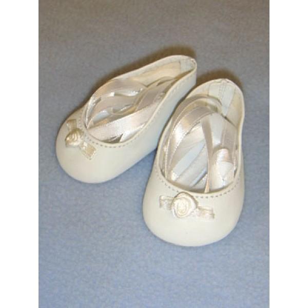 """Slipper - Ballet - 2 3_4"""" White"""