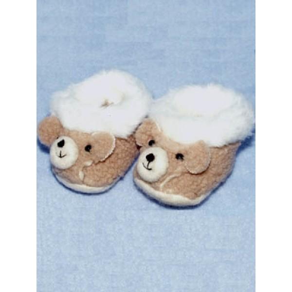 "Slipper - Teddy Bear - 3"" Brown"