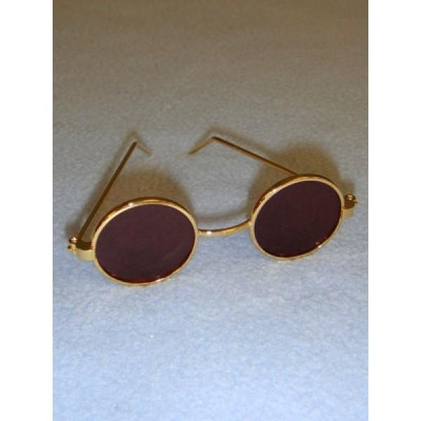 "Sunglasses - Round - 3"" Gold"