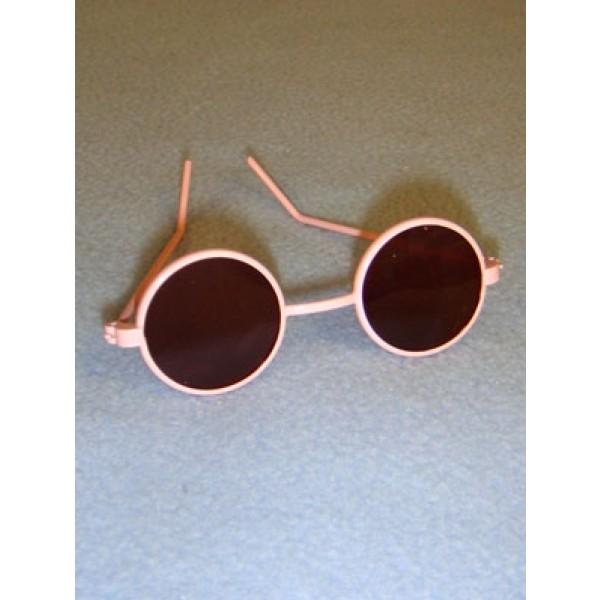 "Sunglasses - Round - 3"" Pink"