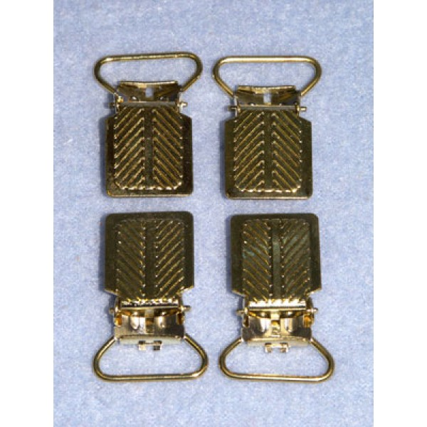 "Suspender Clip - 3_4"" Gilt 2 Pr"