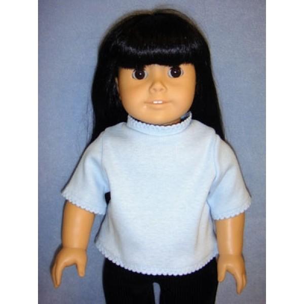 """T-Shirt for 18"""" Doll - Light Blue"""
