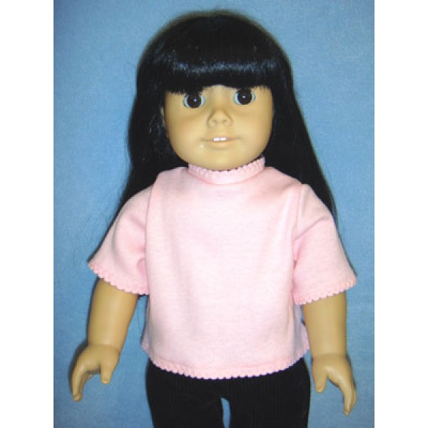"""T-Shirt for 18"""" Doll - Light Pink"""