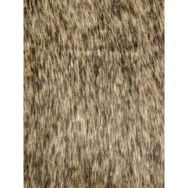 Tan Racoon Fur Fabric - 1 Yd