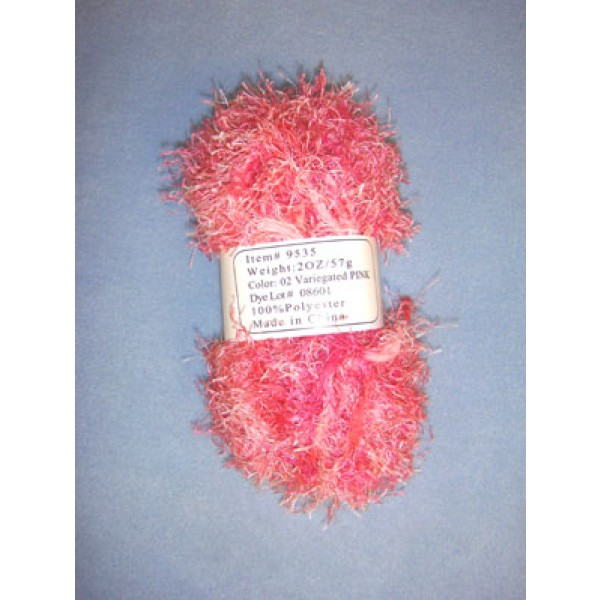 Variegated Yarn - Pink - 2 oz Polyester