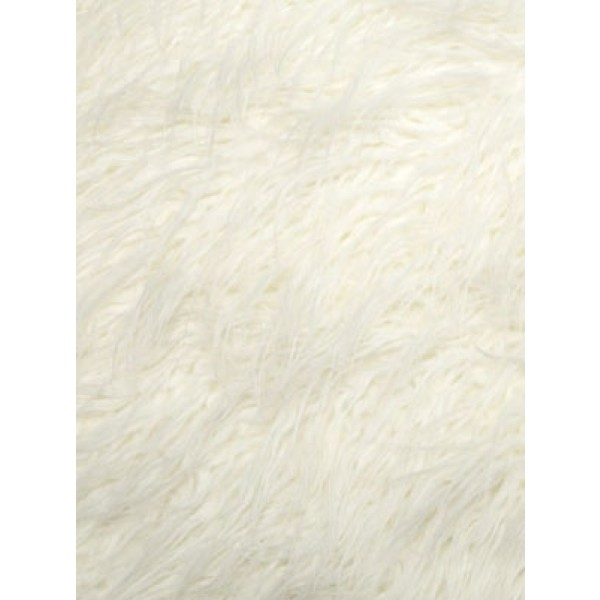 White Curly Mongolian Fur - 1 Yd