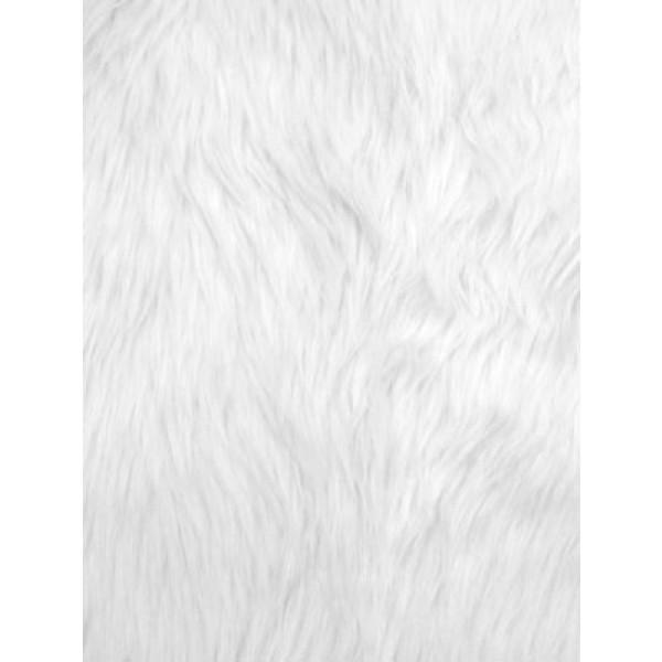 White Luxury Shag Fur - 1 Yd