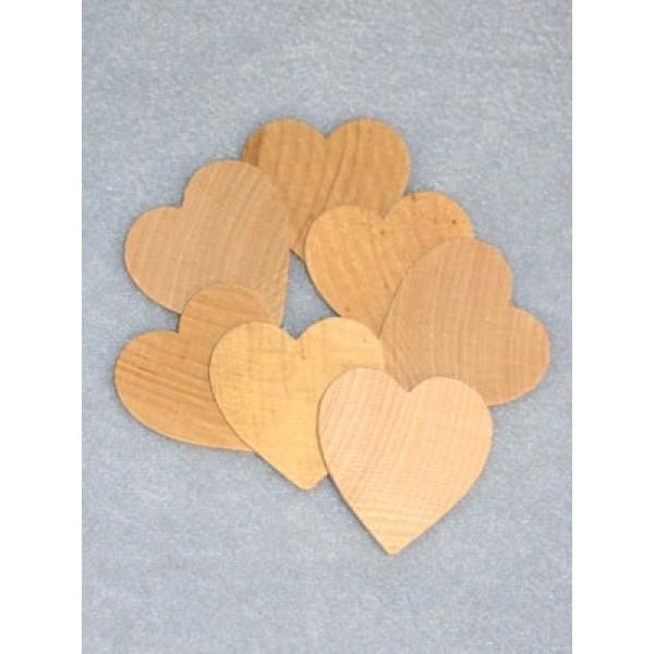 "Wood - Hearts - 1 1_2"" Pkg_7"