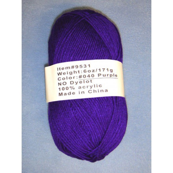 Yarn - Purple - 6 oz Acrylic
