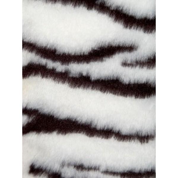 Zebra Fur Fabric - Bk_White 1 Yd