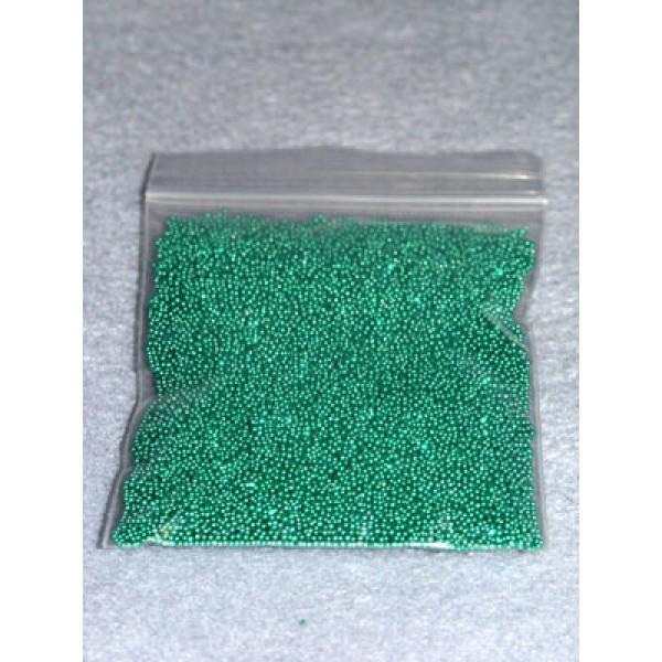 |1- 1.25mm Green Glass Beads - 2 oz.