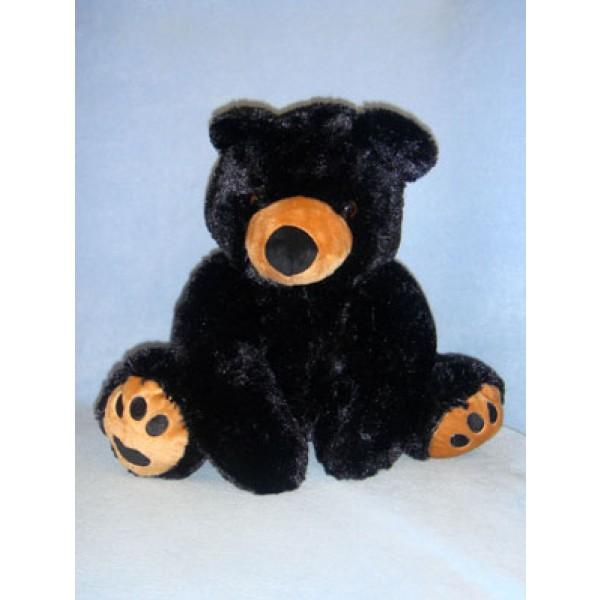 "|16"" Plush Sitting Black Bear"