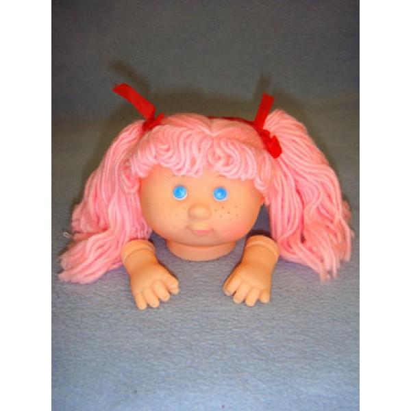 "|3 3_4"" Head - Tiny Teeter Tot Girl w_Pink Hair"