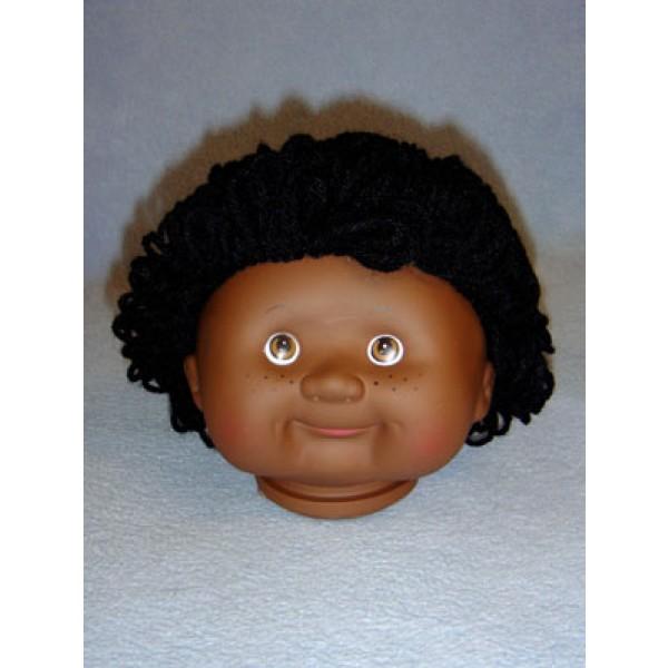 " 4 1_2"" Head - Teeter Tot Boy - Dark w_Black Hair"