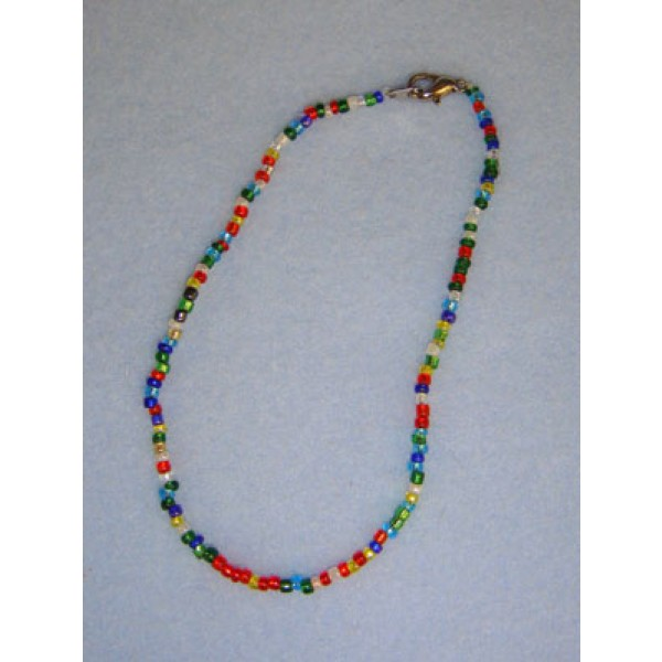 "|7 1_2"" Mixed Glass Bead Necklace"