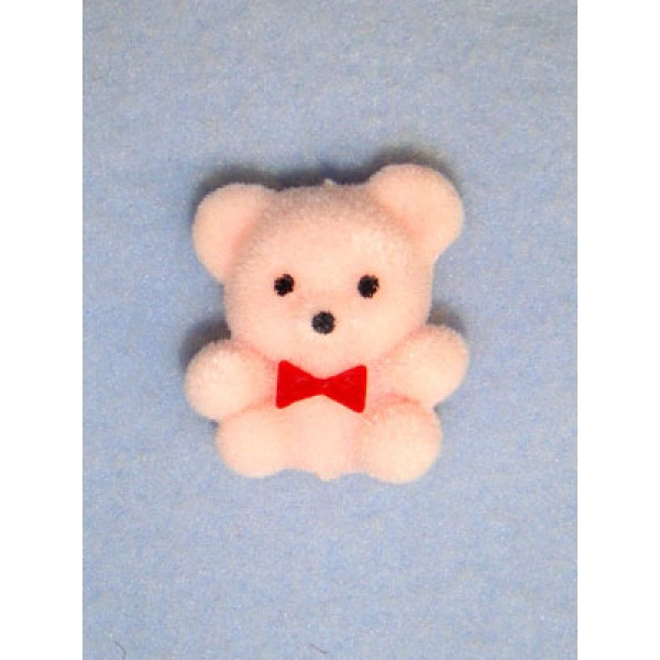 "|Bear - 1"" Flocked - Pink"