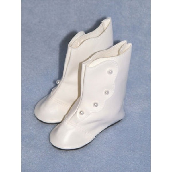 "|Boot - High Button - 2"" White"