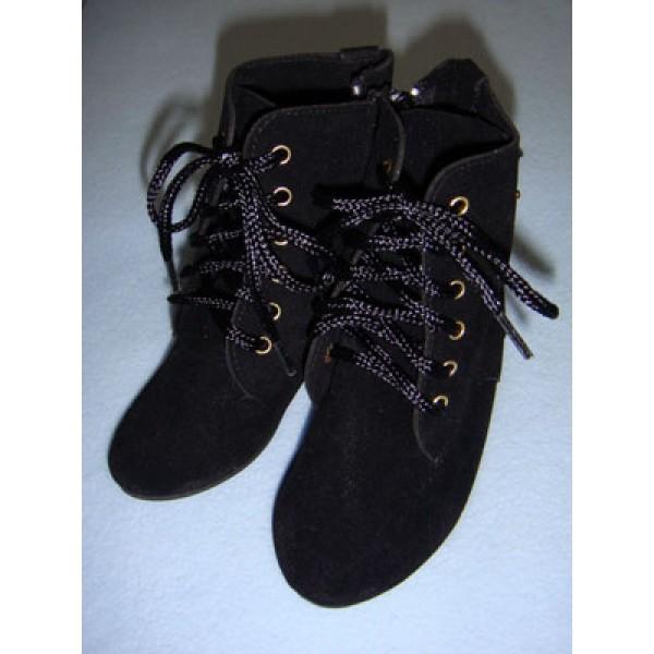 "|Boot - Mrs. Santa - 5 1_4"" Black Suede"