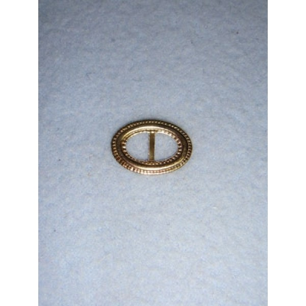  Buckle - Decorative Oval Gold