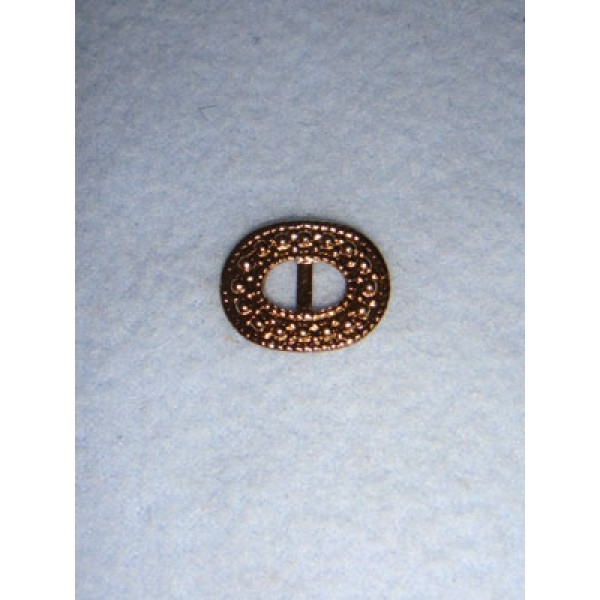 |Buckle - Decorative Oval Gold