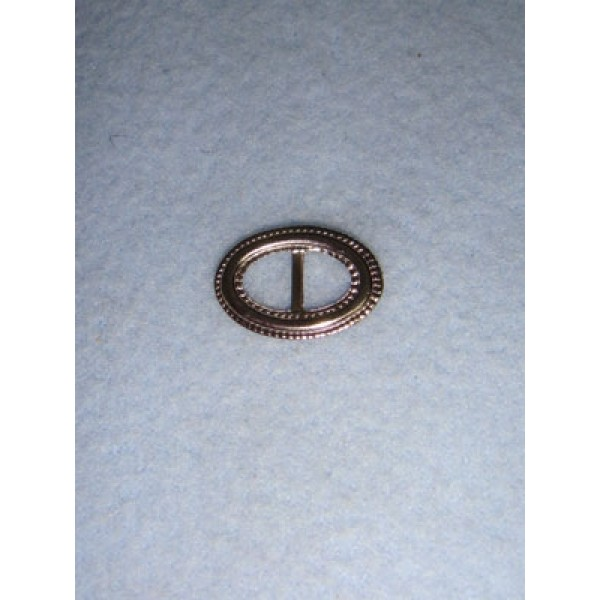  Buckle - Decorative Oval Silver