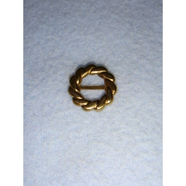 |Buckle - Decorative Round Gold