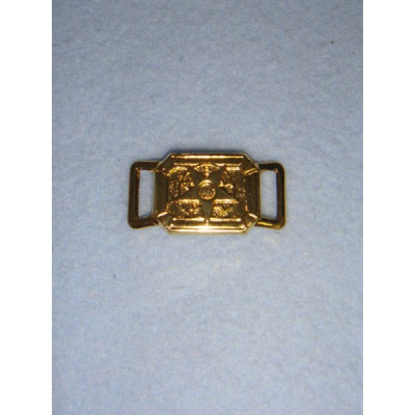 |Buckle - Gold Rectangle w_Star